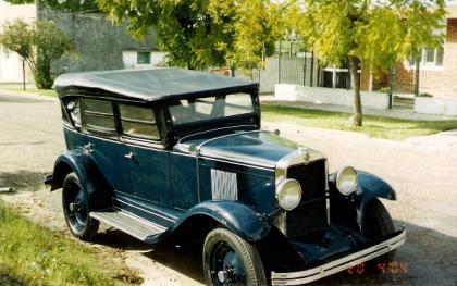 Chevrolet 1929  6 cylinders Double Phaeton convertible top