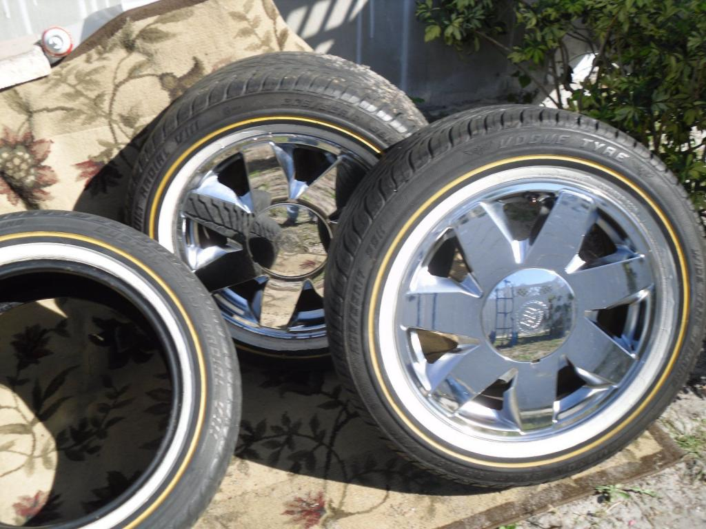 Set Of 17 Quot Cadillac Chrome Rims Amp Vogue Tyres For Cadillac